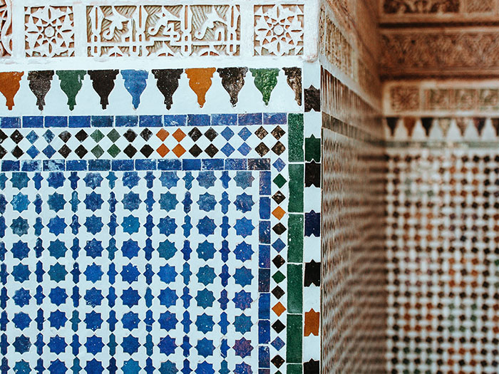 Colored moroccan Tiles