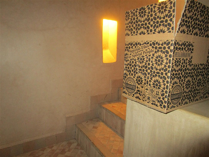 Staircase with morocco tiles